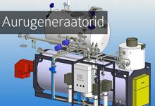 aurugeneraator, aurugeneraatorid, aur, auru tootmine, veeaur, veeauru tootmine, tööstuslik aur, katel, katlad